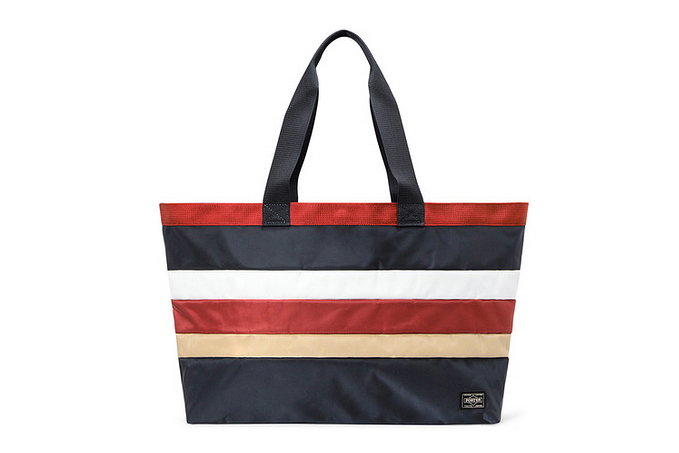 white mountaineering x head porter 2013 spring summer border tote bag