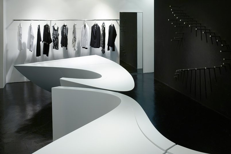 Zaha Hadid x Neil Barrett Shop-In-Shop