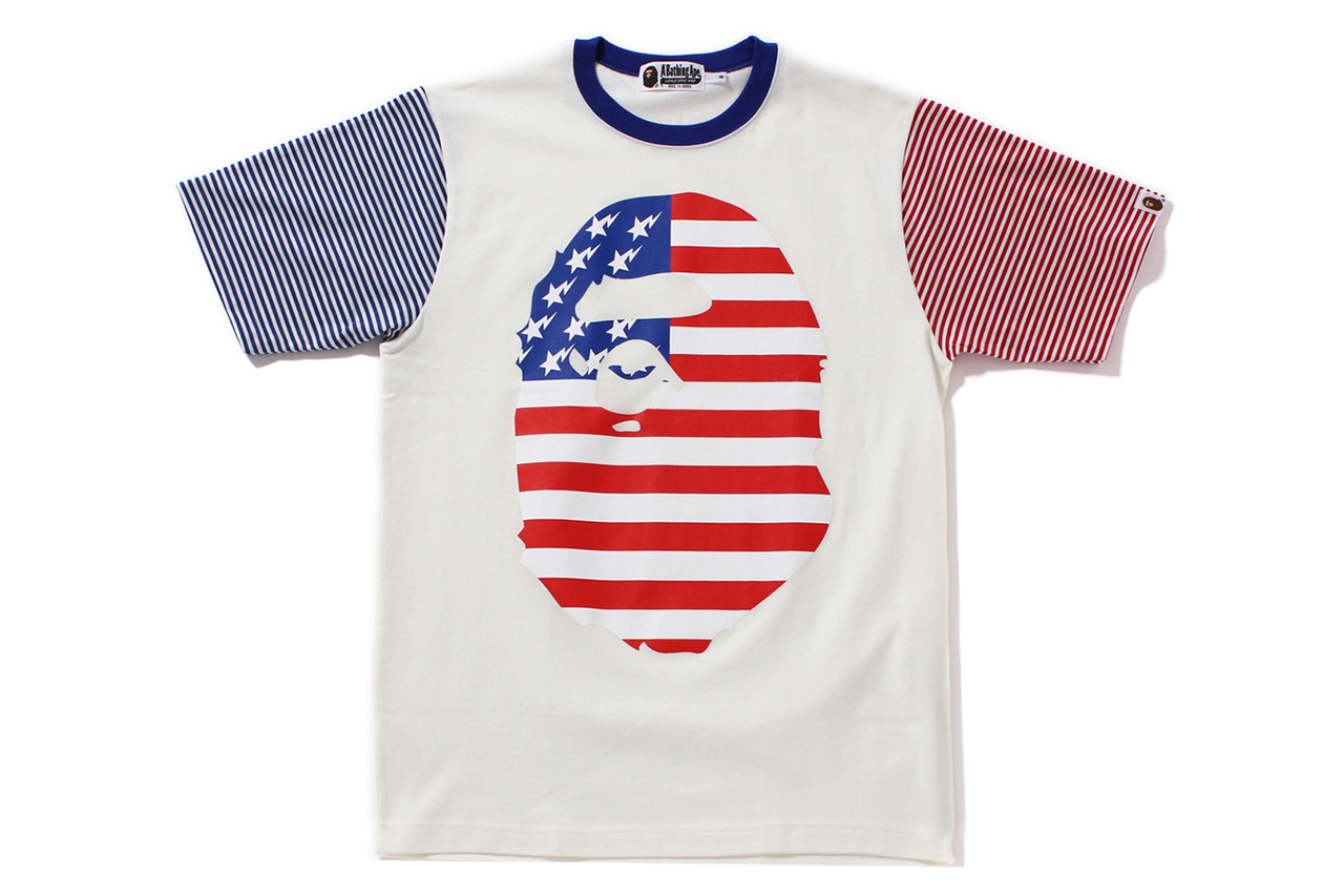 a bathing ape 2013 spring summer big face us tee