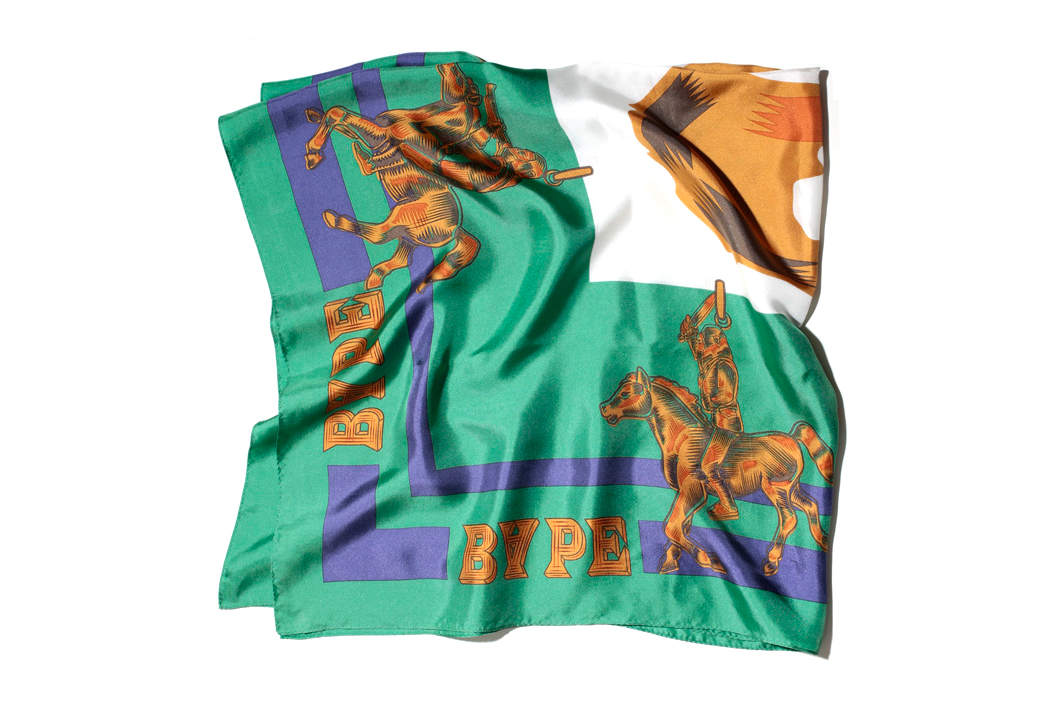 a bathing ape 2013 spring summer hermes inspired scarf aoyama exclusive