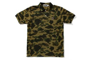 A Bathing Ape Apesta 1st Camo Polo Shirt
