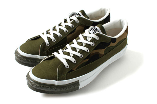 a bathing ape apesta court camo black