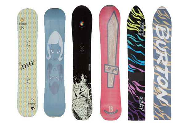 a look back at burtons most iconic snowboard graphics