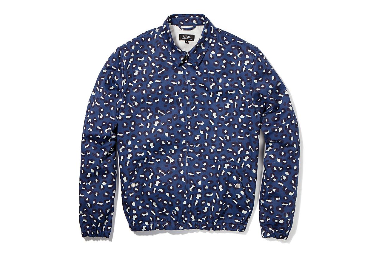 a p c 2013 spring summer leopard print bomber jacket