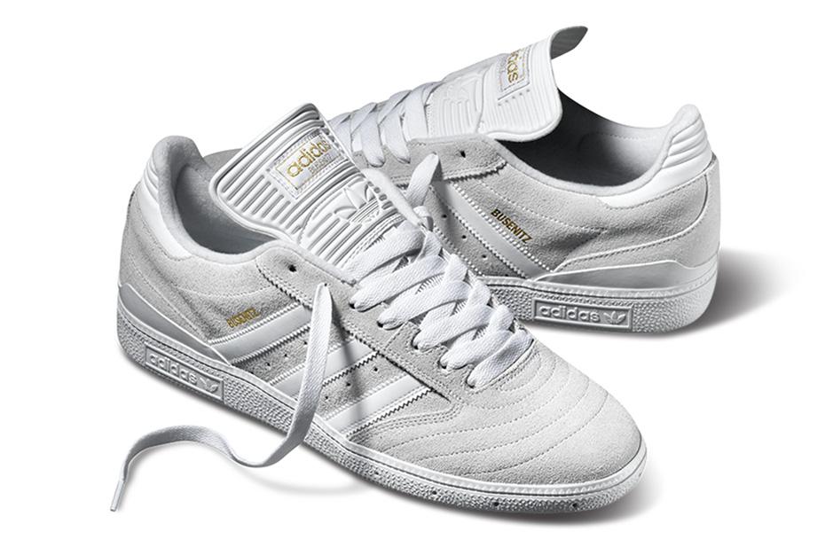 adidas skateboarding busenitz pro white white