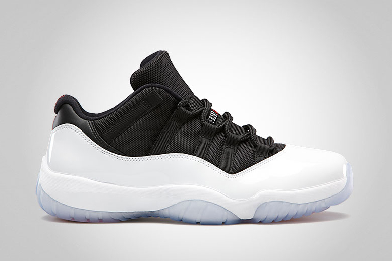 air jordan 11 retro low white black true red