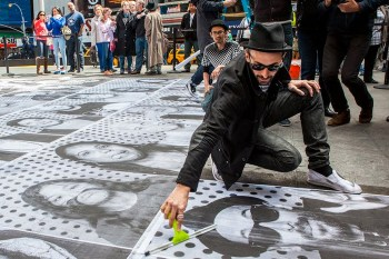 "ANIMAL Follows JR Through Times Square For His ""Inside Out"" Project"