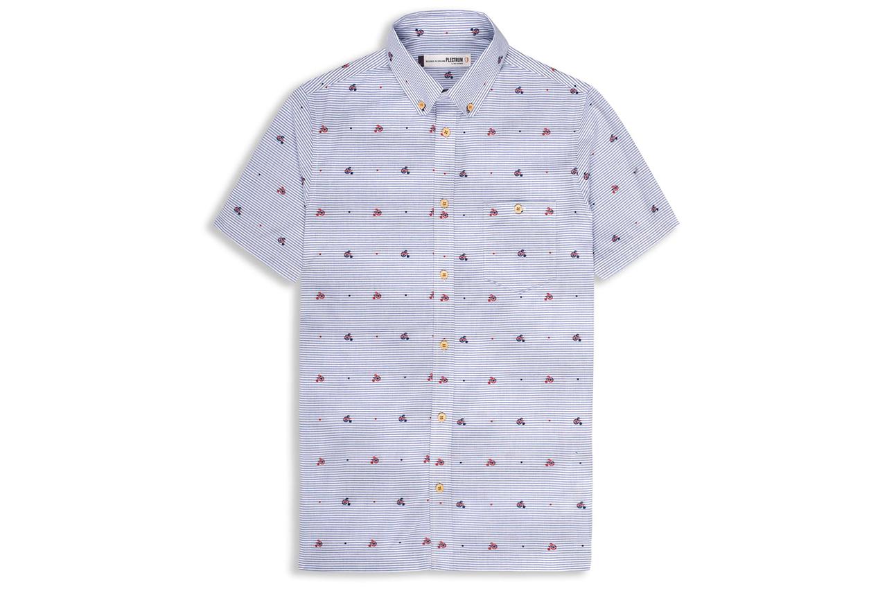 Ben Sherman 2013 Spring/Summer Bicycle Print Japanese Fabric Shirt