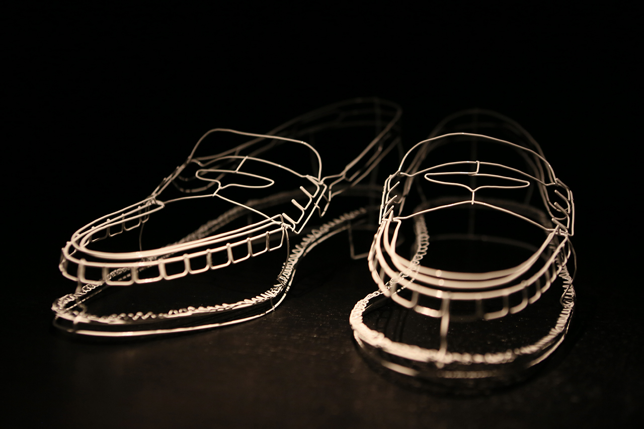 Cathy Miles Wire Shoes Installation @ South Place Hotel