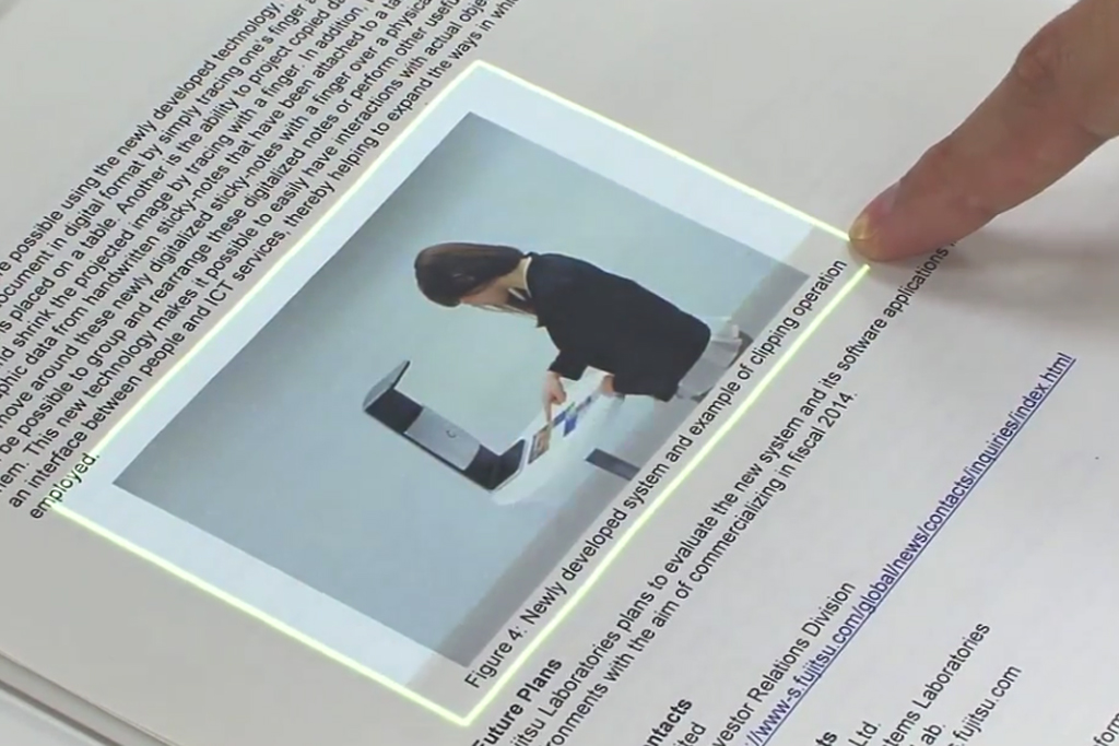 Check Out Fujitsu's Sci-Fi-Worthy Augmented Reality Touchscreen Interface   Video