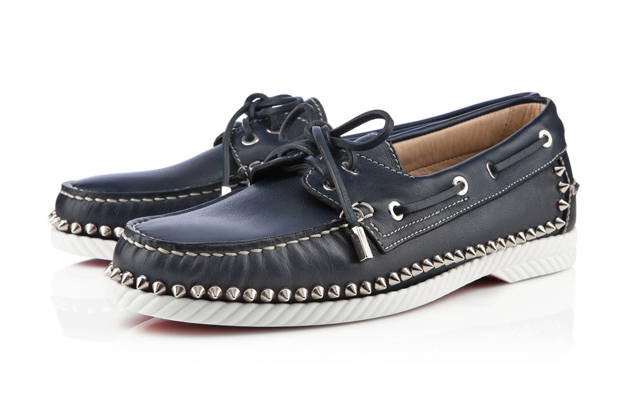 Christian Louboutin Steckel Men's Flat Navy Leather