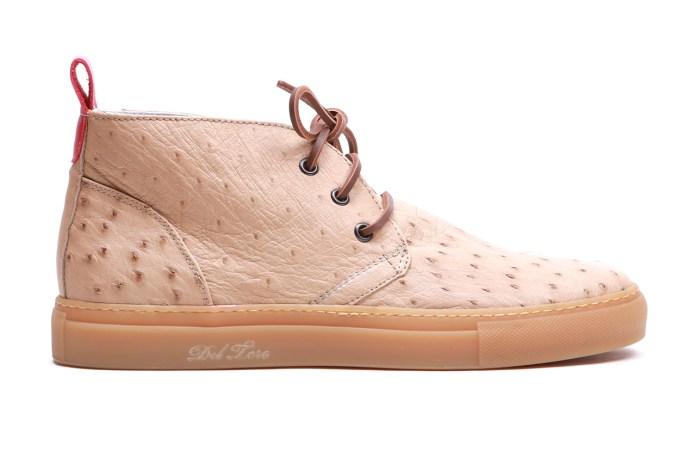 Del Toro Ostrich Skin Chukka Sneaker