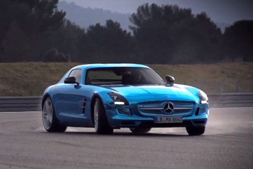 Drive Tests the Mercedes-Benz SLS Electric Drive on the Track