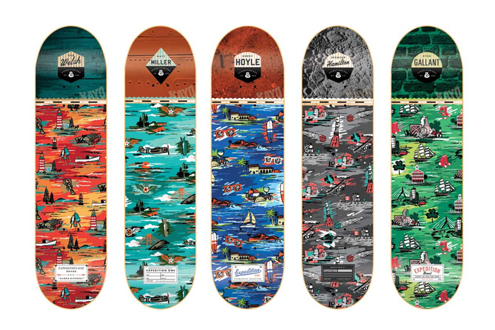 expedition one aloha bitches skate deck series