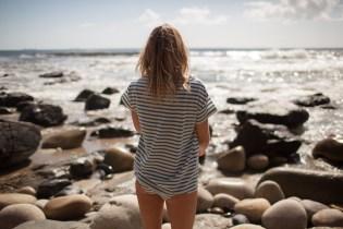 Finisterre Striped Merino Portland T-Shirt