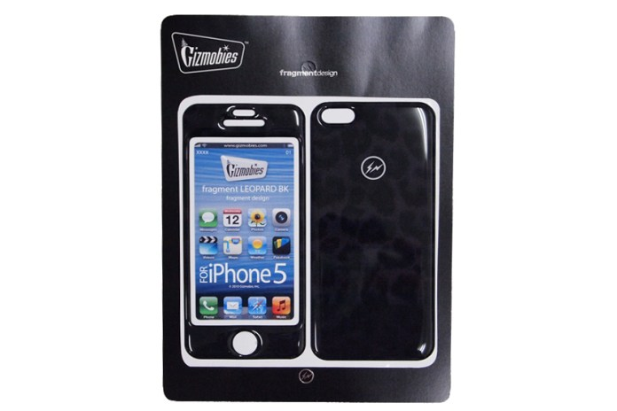 fragment design x Gizmobies iPhone 5 BLACK LEOPARD Protector