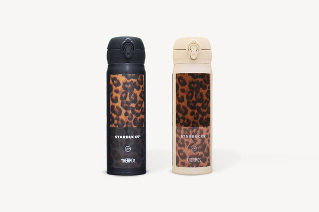 "fragment design x Starbucks B-Side Harajuku Beverage Bottle ""Leopard"""