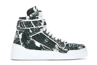 Givenchy Green Paisley Print High-Top Sneakers