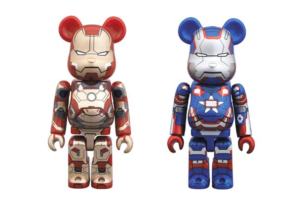 iron man 3 x medicom toy 100 bearbricks