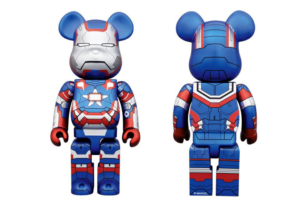 Iron Man 3 x Medicom Toy 400% Iron Patriot Bearbrick