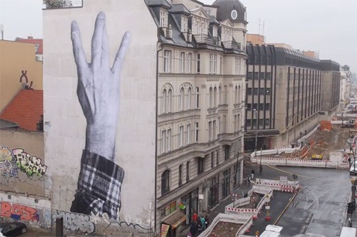 "JR ""Wrinkles of the City"" Project in Berlin"
