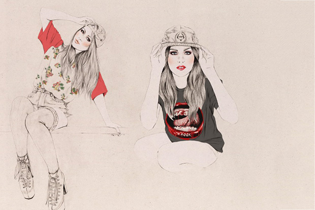 kelly thompson x rook 2013 spring summer illustrated lookbook