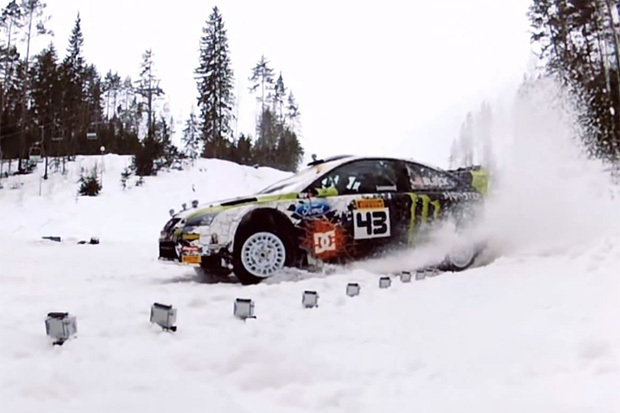 Ken Block Takes to the Snow-Covered Forests of the Russian Winter