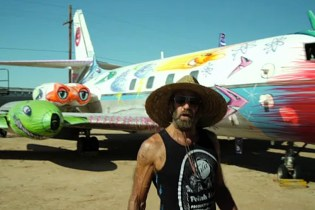 Kenny Scharf Gives a Lockheed Jetstar a Facelift for The Boneyard Project