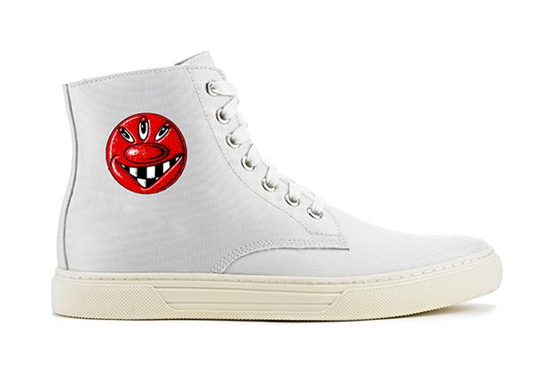 "Kenny Scharf x Alejandro Ingelmo 2013 Spring/Summer ""Josh"" High-Top Sneaker"