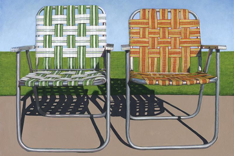 Leah Giberson's Hyperrealistic Paintings of Suburban Life