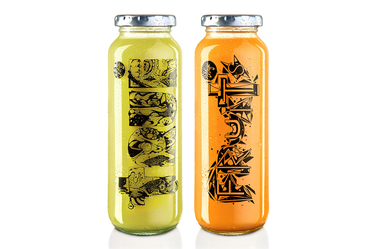 Mago Dovjenko for true fruits Bottle Design