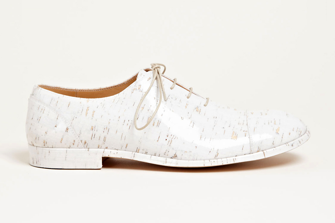 maison martin margiela 2013 spring summer vinyl cork shoes