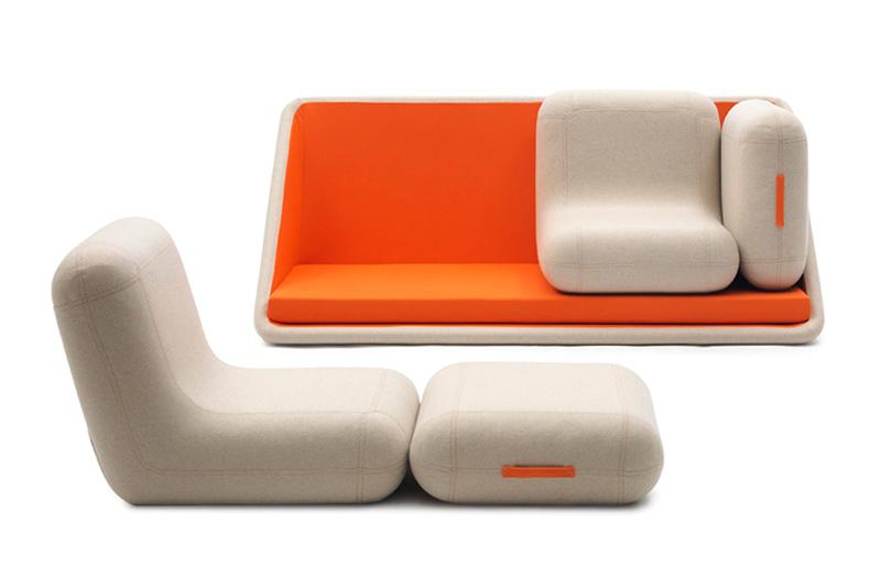 """Matali Crasset """"Concentré de Vie"""" Modular Sofa for Campeggi"""