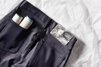 "Naked & Famous Indigo Weird Guy ""Paper"" Denim *HYPEBEAST Exclusive"