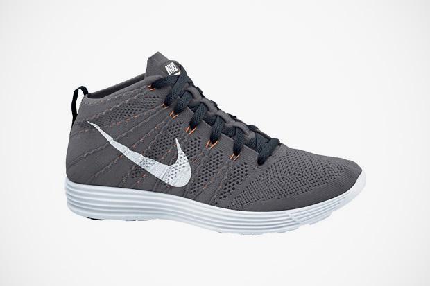 Nike 2013 Summer Lunar Flyknit Chukka Grey/Total Orange