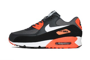 Nike Air Max 90 Premium Dark Grey/White/Total Crimson