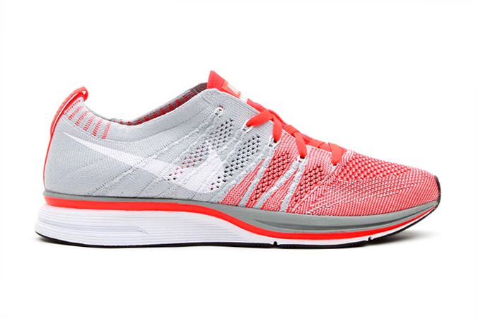 Nike Flyknit Trainer+ Bright Crimson/White