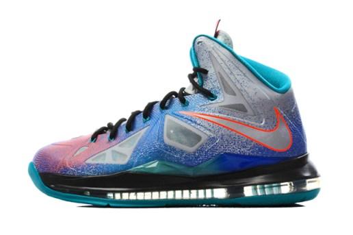 "Nike LeBron X ""Pure Platinum"""