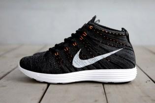 Nike Lunar Flyknit Chukka Midnight Fog/Black-Total Orange
