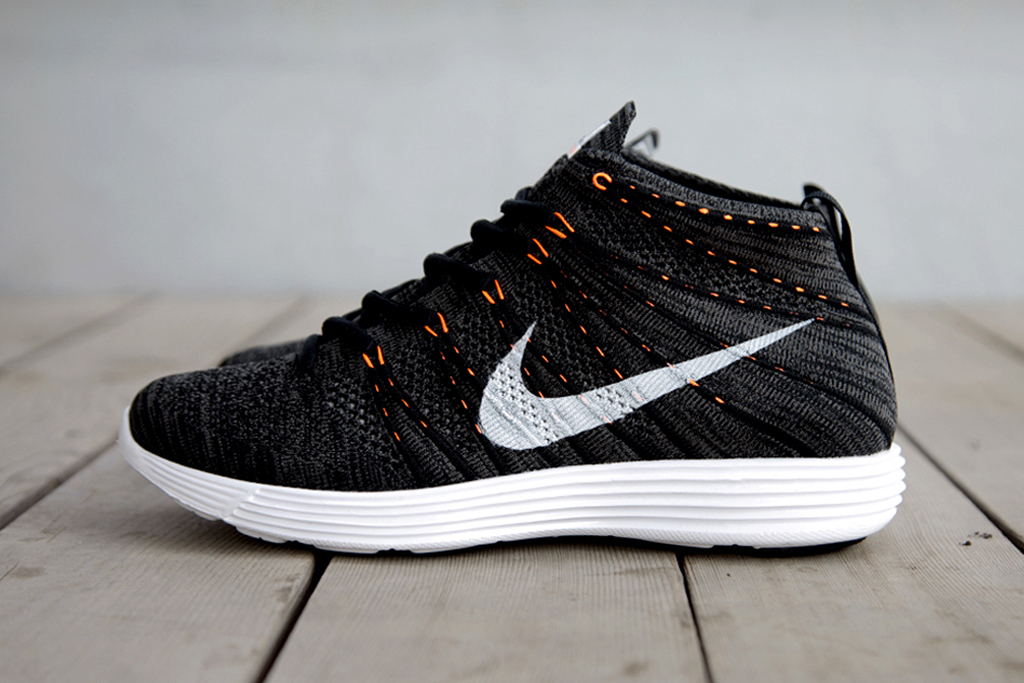 Nike Lunar Flyknit Chukka Midnight Fog/Black-Total Orange