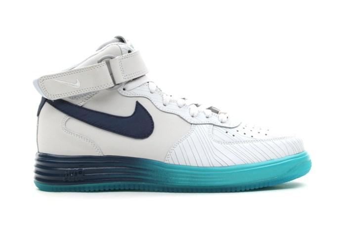 Nike Lunar Force 1 Mid LTHR Pure Platinum/Squadron Blue