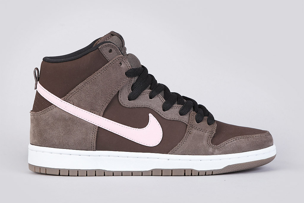 nike sb dunk high pro smoke ion pink baroque brown