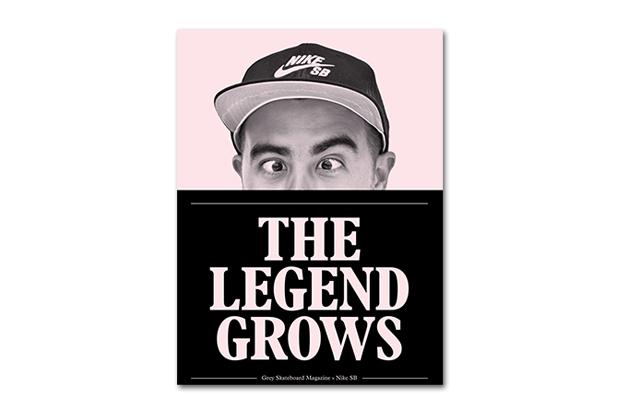 nike sb x grey skateboard magazine the legend grows zine