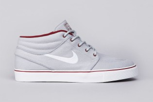 Nike SB Zoom Stefan Janoski Mid Wolf Grey/White-Team Red