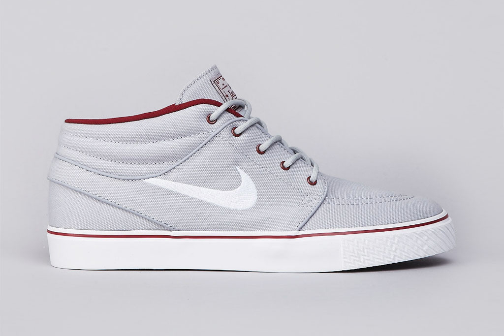 Nike SB Zoom Stefan Janoski Mid Wolf Grey/White-Team Red