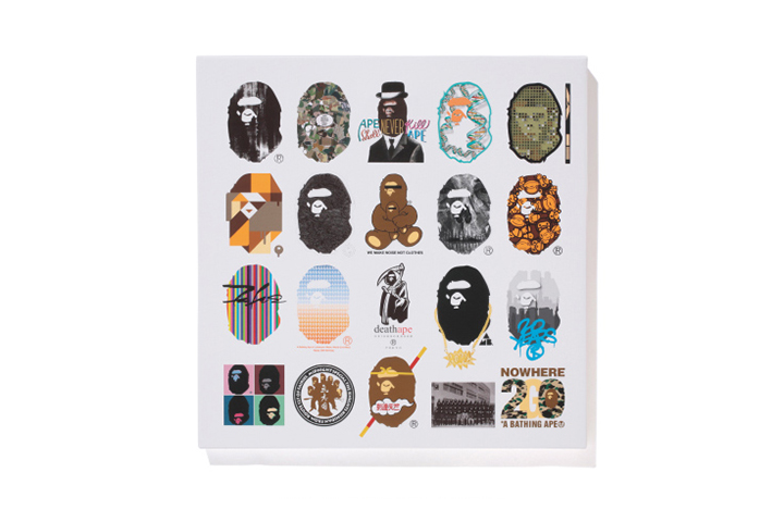 nowhere a bathing ape 20th anniversary limited canvas and t shirt