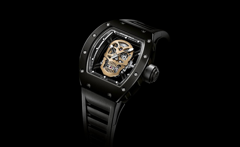 richard mille rm 52 01 nano ceramic skull tourbillon