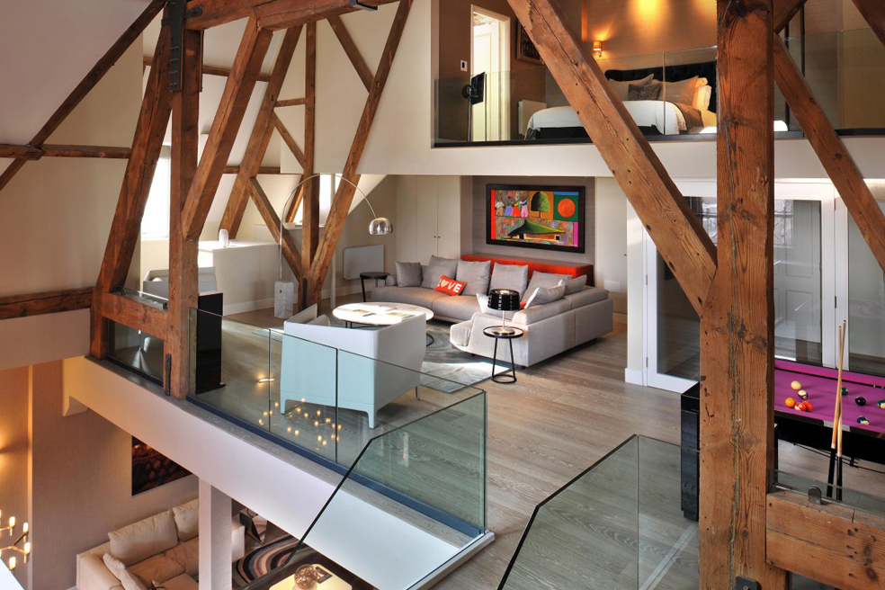 St. Pancras Chambers Penthouse Apartment by TG-Studio