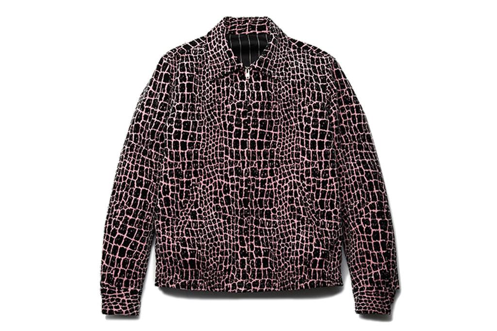 wacko maria velvet crocodile jacket