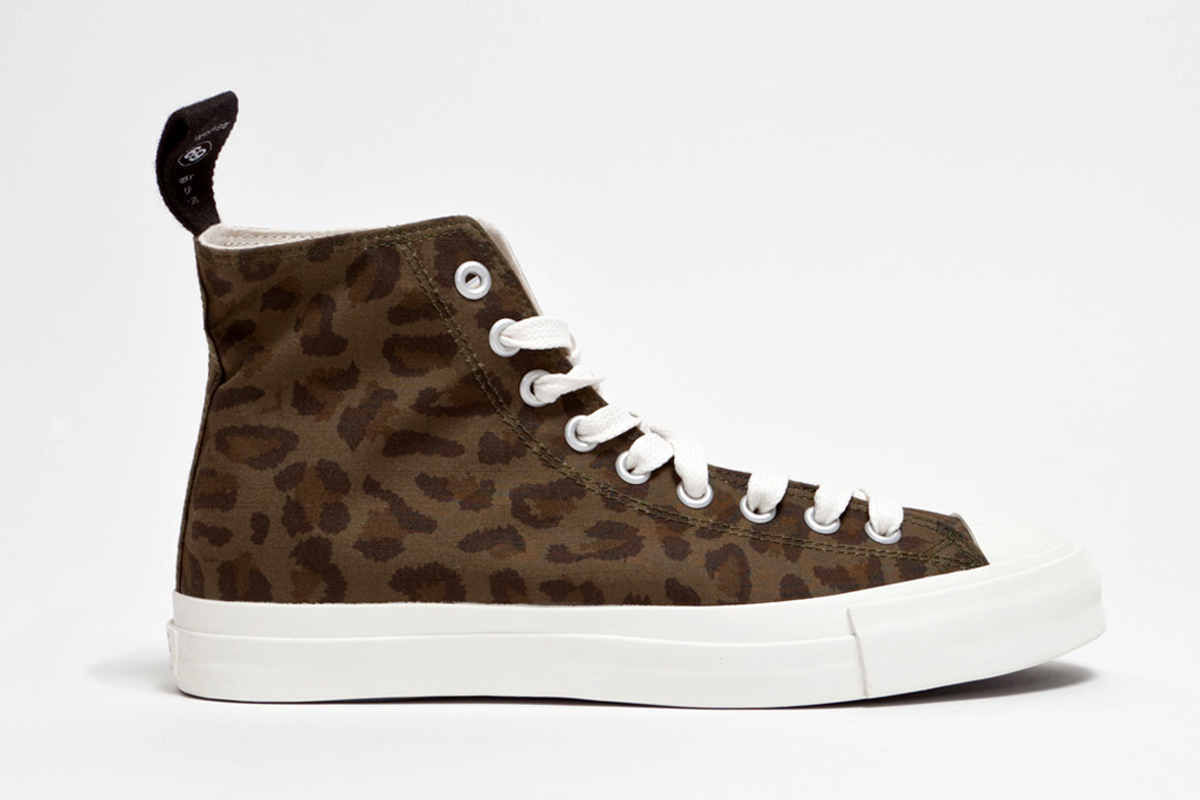 wtaps 2013 spring summer leopard sneaker cotton ripstop